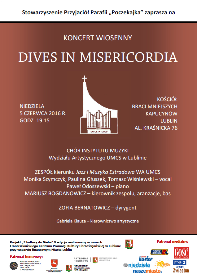 Koncert Wiosenny DIVES IN MISERICORIDA