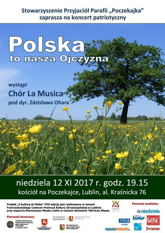 Koncert patriotyczny: Polska to nasza Ojczyzna