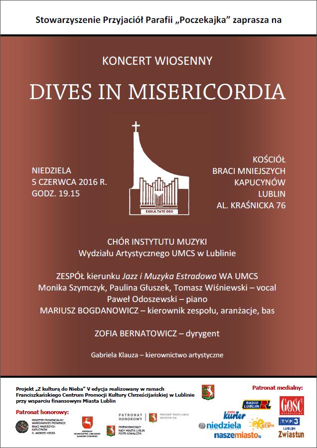 Koncert Wiosenny DIVES IN MISERICORIDA