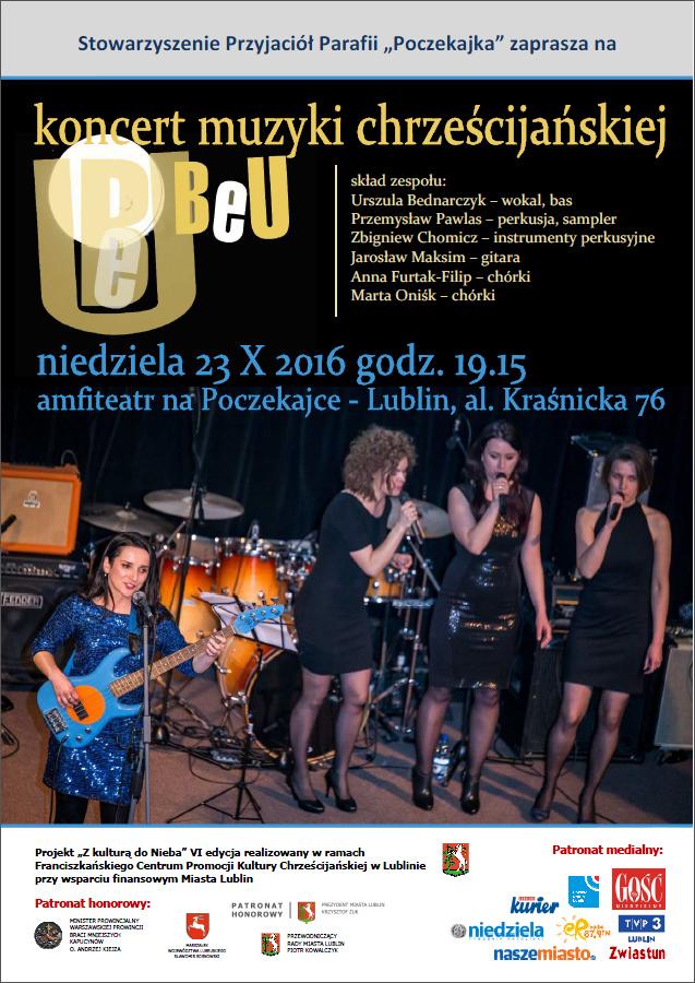 Tydzień misyjny - Koncert zespołu BeU na Poczekajce