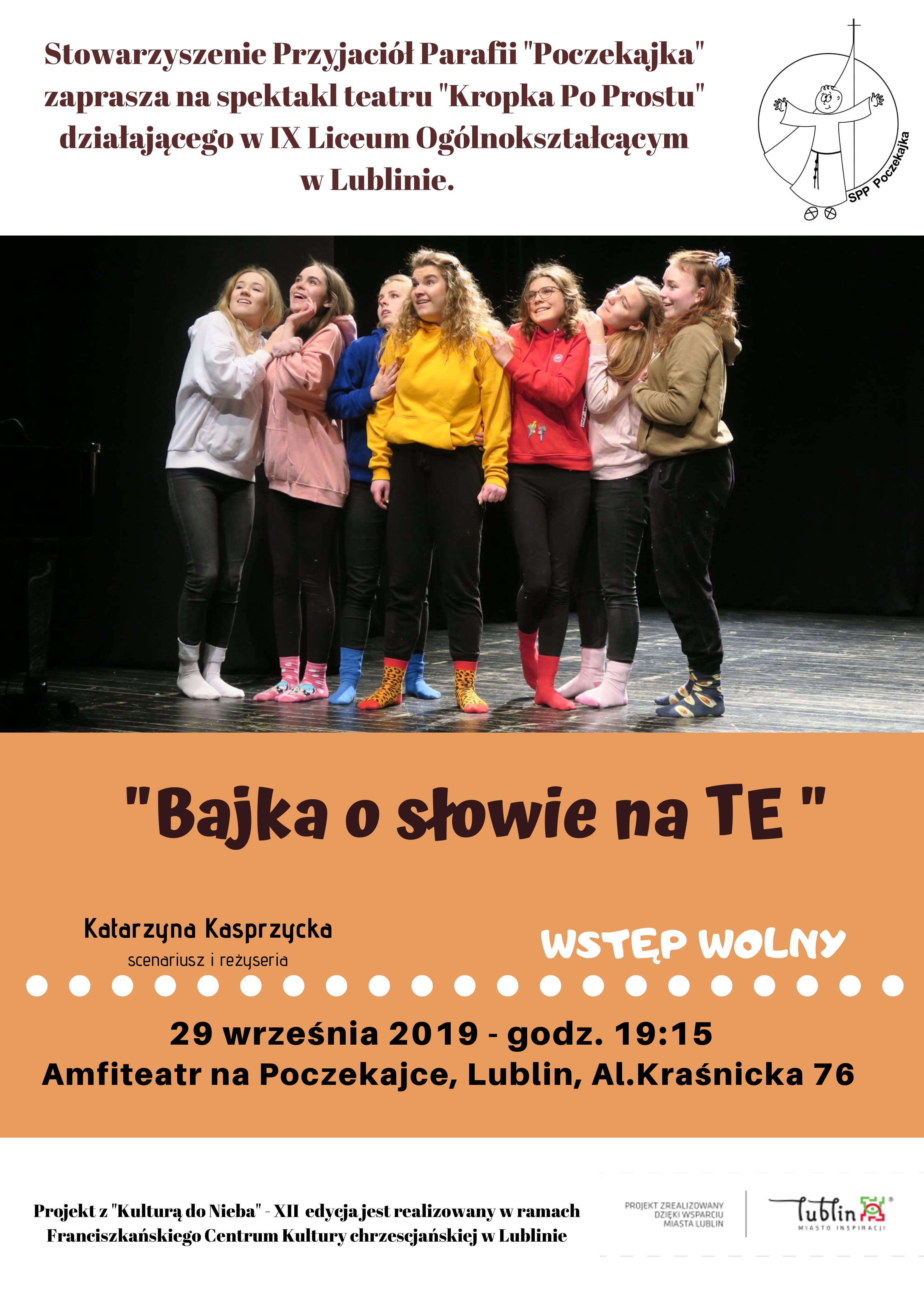 """Spektakl teatru """"Kropka Po Prostu"""", p.t. """"Bajka o słowie na """"TE"""""""