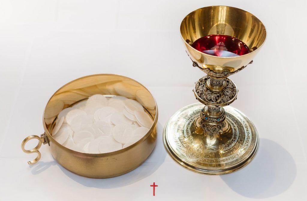 Przyjmowanie Komunii św. na Poczekajce