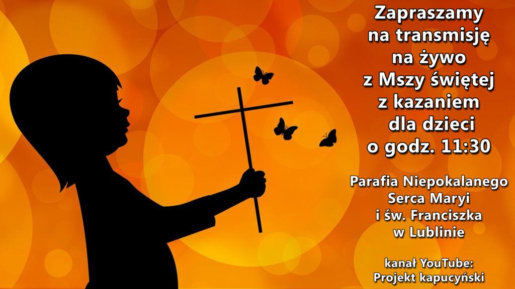 """""""Poczekajka na żywo"""" • Msza św. z kazaniem dla dzieci w dniu 29.11.2020r."""