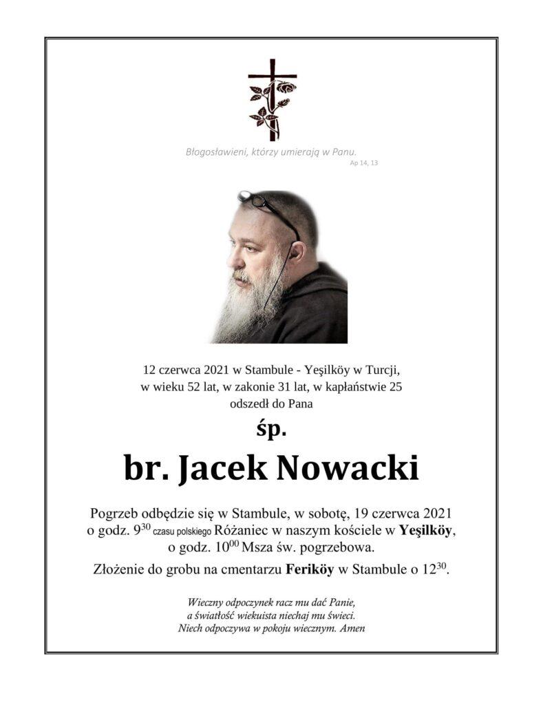 Zmarł br. Jacek Nowacki